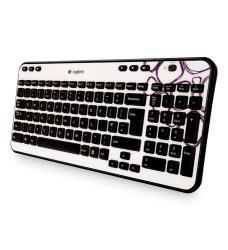 Logitech K360 draadloos keyboard - purple boulder